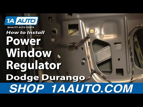 How To Install Replace Rear Power Window Regulator Dodge Durango 04-09 1AAuto.co
