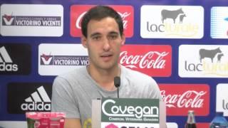 """Unai García: """"Llevaba tiempo buscando mi primer gol y fue una alegría inmensa"""""""