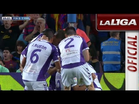 Gol de Javi Guerra (0-1) en el FC Barcelona - Real Valladolid - HD
