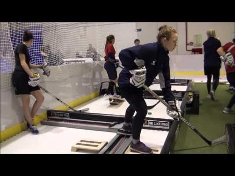 """Тренировка женской хоккейной команды """"Комета"""" в BE LIKE PRO"""