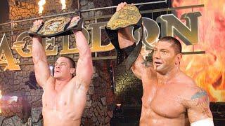 Batista and John Cena unite for a superteam Armageddon 2006
