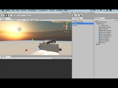 Adding a Skybox: Unity 3D Tutorial (Part 3)