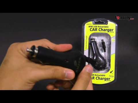 Amzer Mini USB Retractable Car Charger
