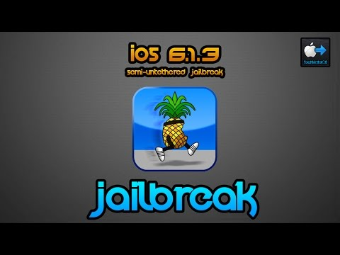 NEW Jailbreak iOS 6.1.3 Semi-Untethered - iPhone 3GS. 4 & iPod Touch 4G