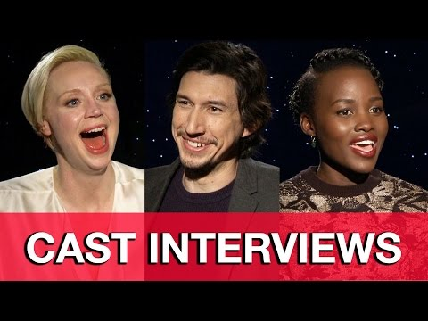 Star Wars The Force Awakens Interviews - Adam Driver, Gwendoline Christie & Lupita Nyong'o