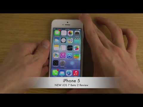 iPhone 5 - NEW iOS 7 Beta 2 Review