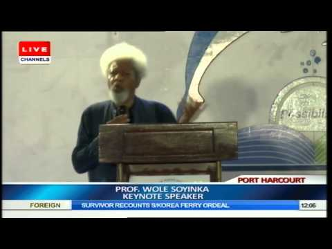 Wole Soyinka's Speech At WORLD BOOK CAPITAL 2014 Part10
