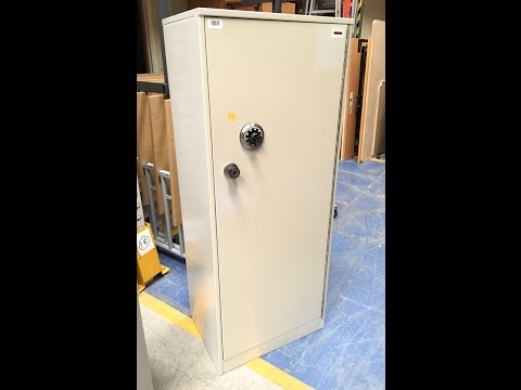 Ex MoD Single Door Security Cabinet with Chubb Manifoil Combination Lock HD 720p