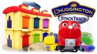 TRAINS FOR CHILDREN VIDEO: Chuggington StackTrack Portable Double Decker Roundhouse Toys Review