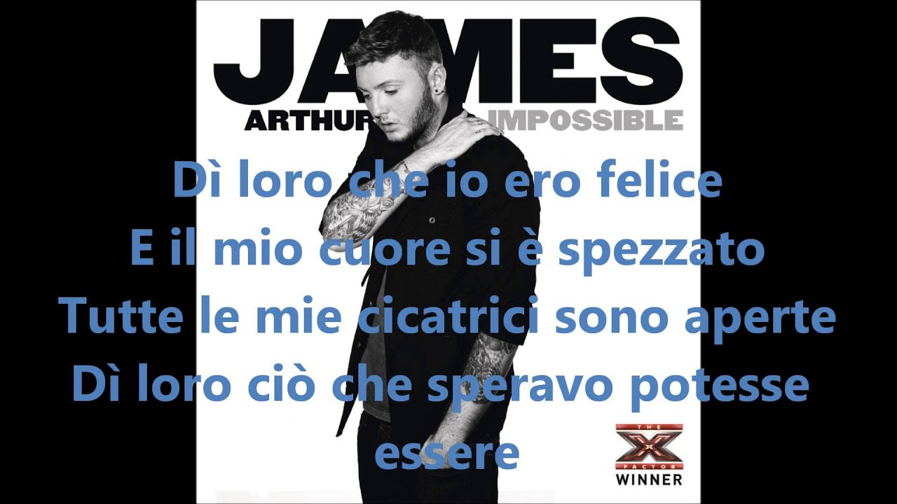 James arthur impossible sheet music in c minor (transposable