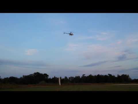 Eyal Plotnik  fly T-REX 450 at Bay City  flyers Oct 30th 2016