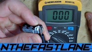 How to test a capacitor for an electric motor with a for Motor start capacitor test
