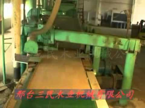 Automatic MDF production line (PLC controlled) with annual output 50000cubic meters