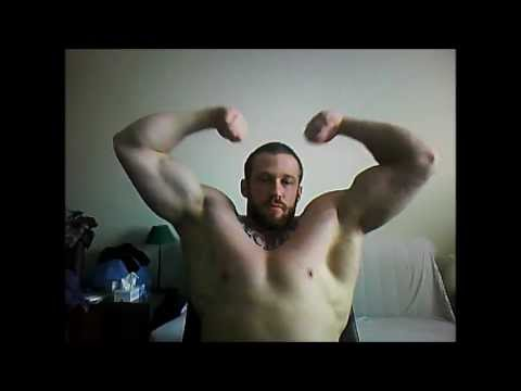 6'3 Bodybuilder Posing At Home