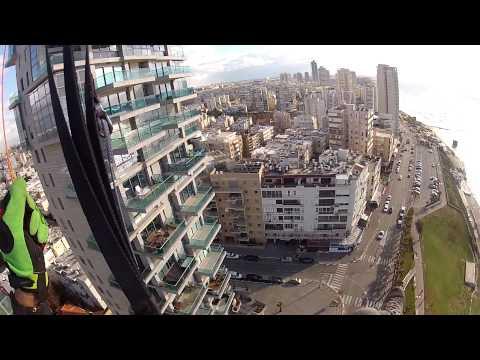 Параглайдинг в Израиле. Над домами Бат-Яма..