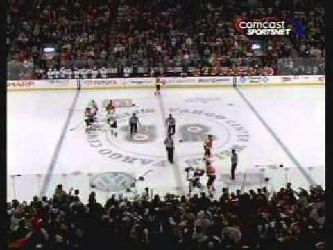 Flyers Senators 1/20/2011 Fights Giroux Neil Carter Shelley Ruutu Hartnell Carkner Brawl game