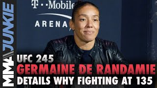 Germaine de Randamie details reasons behind asking for bantamweight fight against champ Amanda Nunes