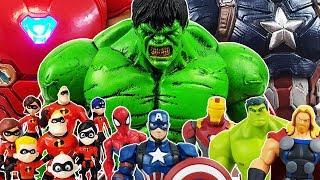 Romeo vs Incredibles & Avengers, Go~! Thor, Hulk, Iron Man, Spider-Man, Captain America Toys Play