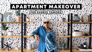 APARTMENT MAKEOVER for Gabriel Zamora + DIY Dalmatian Wall // Lone Fox