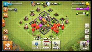 Best TH4 army composition (loons+archer)