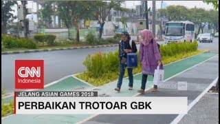 Wow! Trotoar GBK Kini 'Cantik' & Ramah Pejalan Kaki