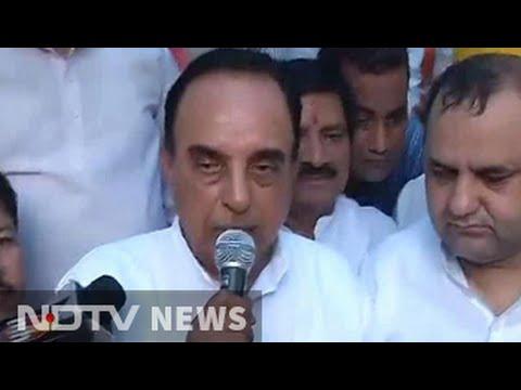 'Rajan gone', Kejriwal next: Subramanian Swamy warns at BJP MP's protest