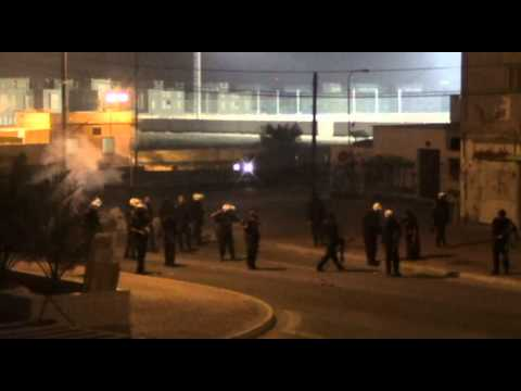 shahrakan: force riot firing tear gas on houses 24 feb 2013