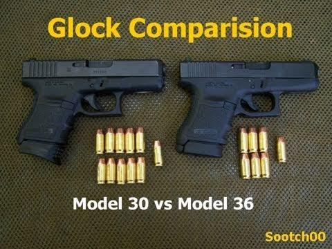 Glock Model 30 vs Model 36 - YouTube
