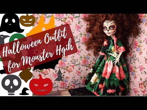 Halloween Special Outfit for Monster High and Barbie Dolls / Easy / DIY Tutorial