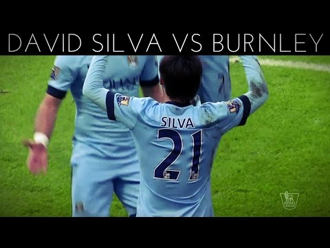 David Silva vs Burnley (H) 2014-2015 EPL HD