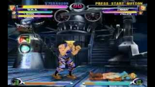 Guile-Tron-Thanos MVC2 Gameplay 1/2