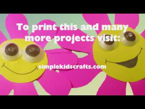 How to make a Poster Board & Egg carton Pre-K decoration, Wall-flowers