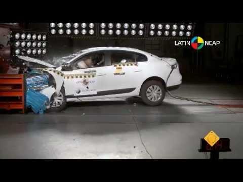 Краш-тест Renault Fluence  2013/Samsung SM3 NCAP Frontal Offset (LatinNCAP - Four Stars)
