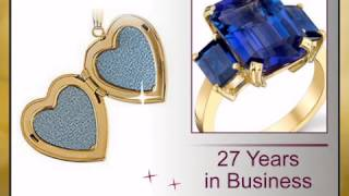 Classic 14k Yellow Gold Heart Shaped Locket with Inset Diamond Accent - Two Picture Spots Inside - F