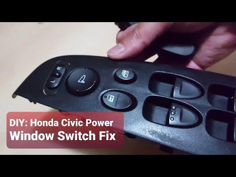 DIY: Honda Civic Power Window Switch Fix - How to fix a stuck window switch