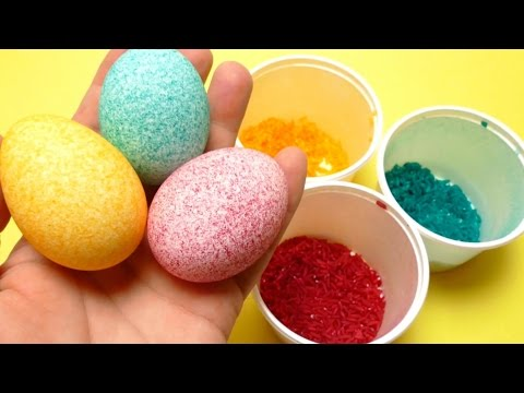Easter Egg Coloring - Decorating with Rice - DIY Shake It Video