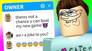 The OWNER CHALLENGED ME to beat their Roblox game..