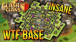 """INSANE WEIRD BASE!"" - Town Hall 8 WTF BASE (CoC TH8) BEST Base Layout 2015"