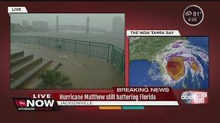 Hurricane Matthew battering Jacksonville