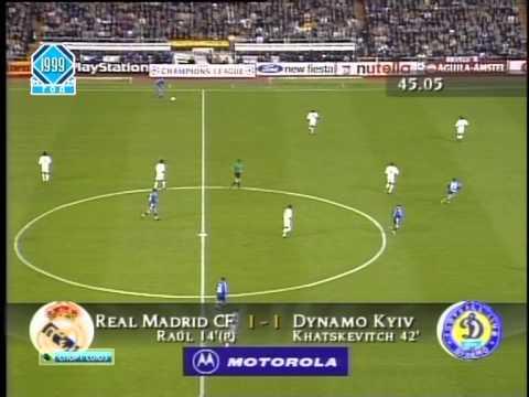 Реал (Мадрид) - Динамо (Киев) 2:2. ЛЧ-1999/00 (полный матч) НТВ+.
