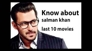 Salman Khan Last 10 Movies