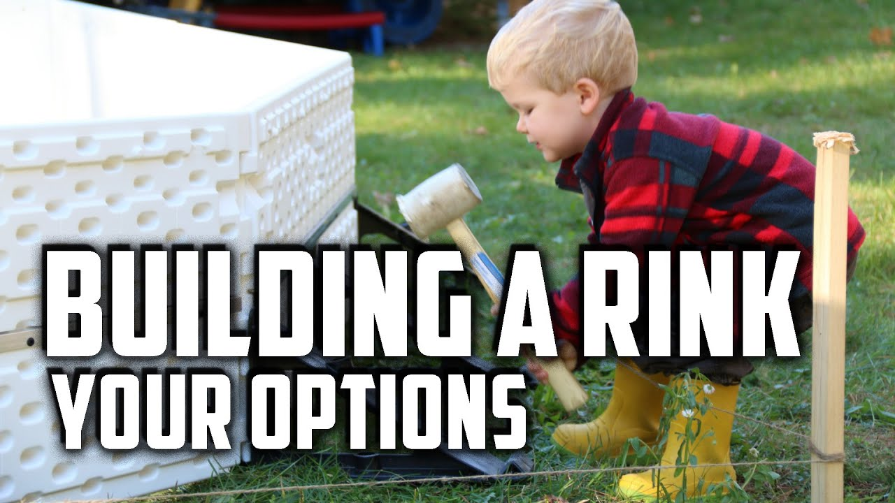 building a backyard rink material brackets liner youtube
