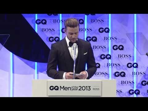 Justin Timberlake presents Tom Ford with GQ's Designer Of The Year Award
