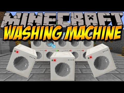 WASCH DEINE WÄSCHE   Washing Machine Mod   Minecraft Mod Review [DEUTSCH]