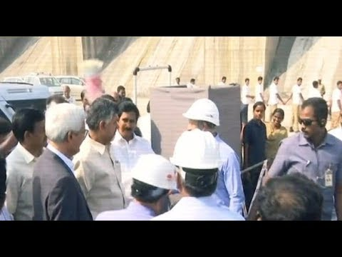 Andhra CM Chandrababu Naidu inspects project