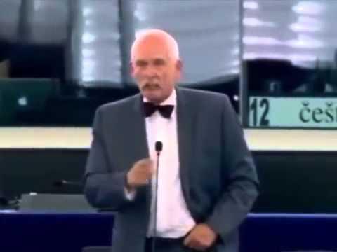 [PL]Janusz Korwin-Mikke w Europarlamencie / Różnorodność, a ujednolicenie/ Hajluje