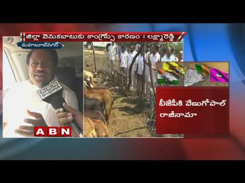 Minister Laxma Reddy slams Tcongress over thier Campaign  in Mahbubnagar