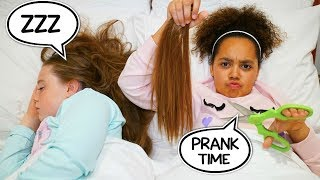 HAIRCUT PRANK ON MY BFF!!  *TIANA FUNNY PRANKS*