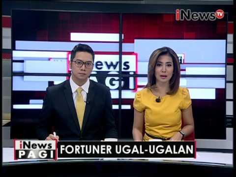 Fortuner ugal-ugalan, mobil rusak parah usai nabrak - iNews Pagi 09/06