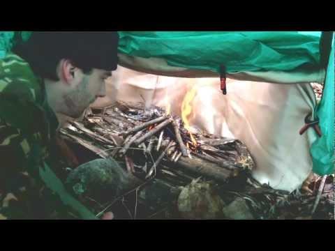 El Cheapo Heated Tarp Shelter